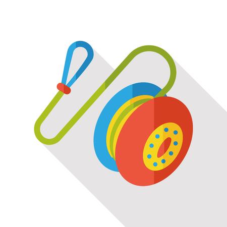 play yoyo: toy yoyo flat icon