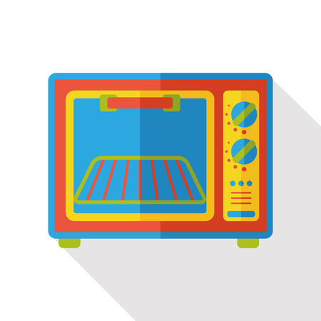 microondas: electrodom�stico horno icono plana
