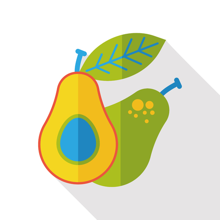 avocado: Avocado fruits flat icon
