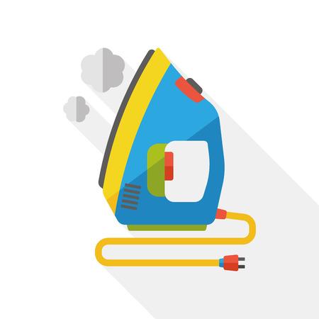 flat iron: laundry iron flat icon