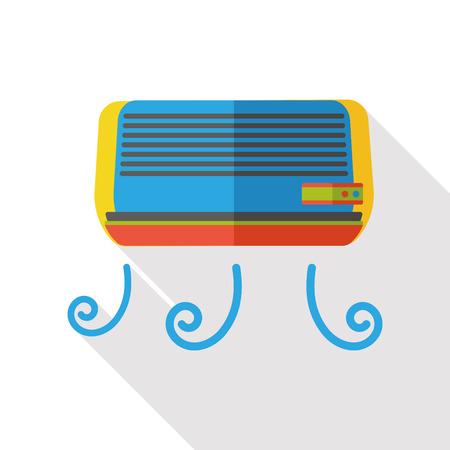 air conditioner flat icon