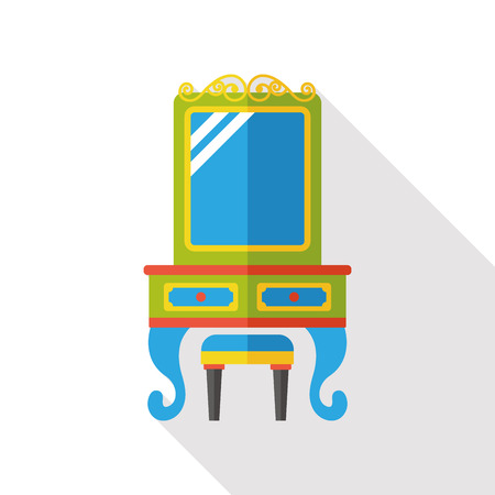 dressing: Dressing table flat icon
