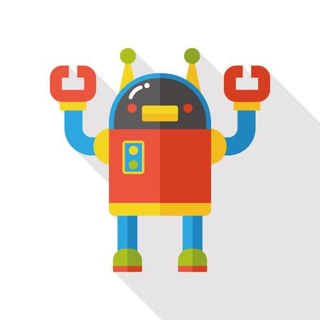 Space machine robot flat icon
