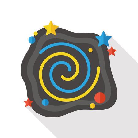 meteoric: Space meteoric stone flat icon