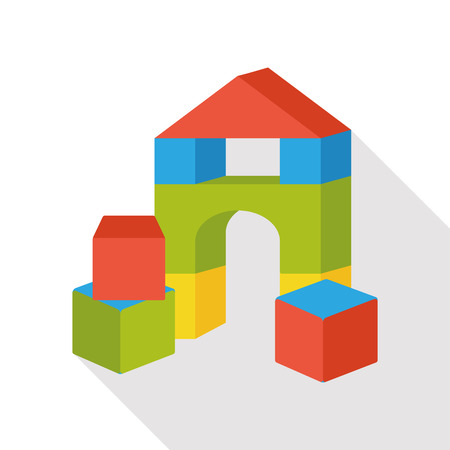toy brick flat icon