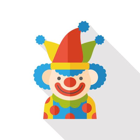 clown cirque: clown de cirque ic�ne plat