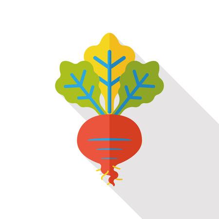 radish: vegetable radish flat icon Illustration