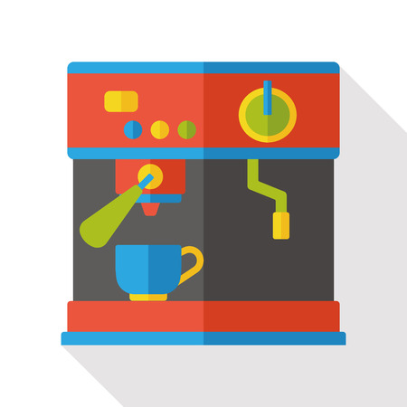 coffee maker machine: coffee maker machine flat icon Illustration
