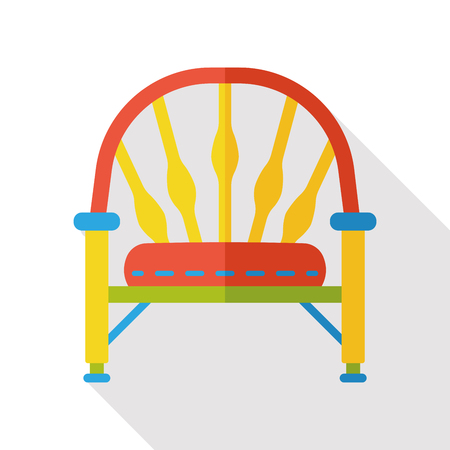 furniture: chair furniture flat icon Illustration