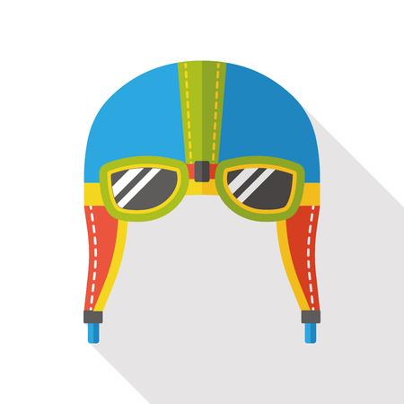 airman: aviation helmet flat icon