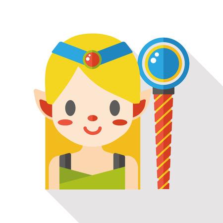 fairy: Game fairy flat icon