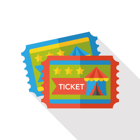 circus ticket: circus ticket flat icon