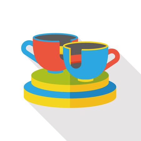 coffeecup: amusement park coffee-cup flat icon