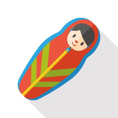 sleeping bag: sleeping bag flat icon