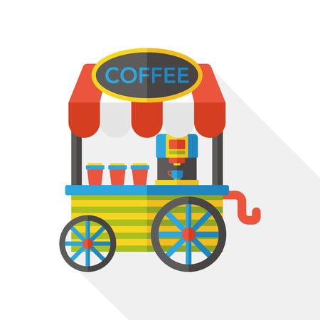 vendor: coffee vendor carts flat icon