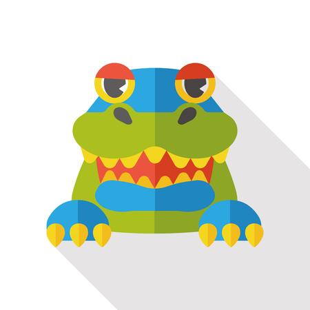 corrientes: toy crocodile flat icon