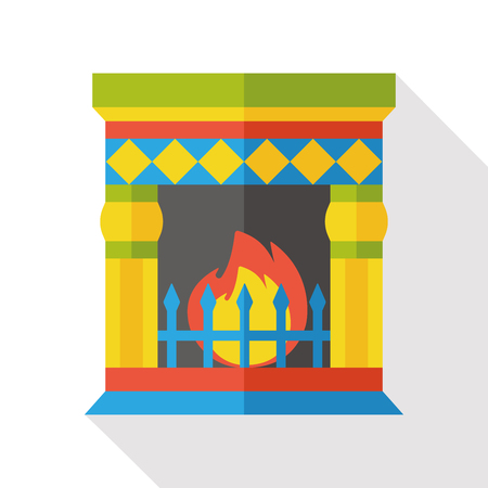 fireplace: Fireplace chimney flat icon