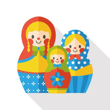 Muñeca de juguete icono plana Foto de archivo - 49530151