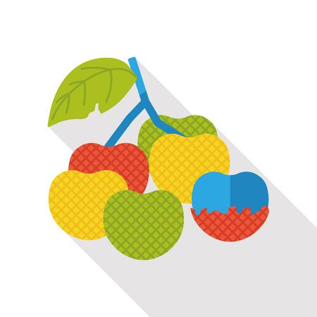 litchi: litchi fruits flat icon