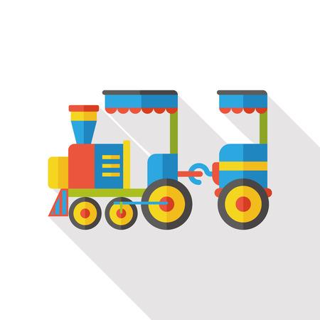 amusment: amusement park train flat icon