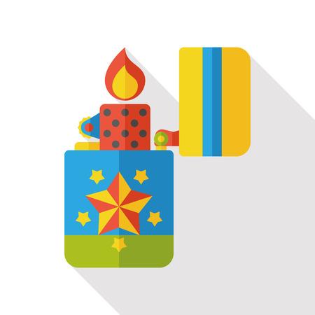 butane: fire lighter flat icon