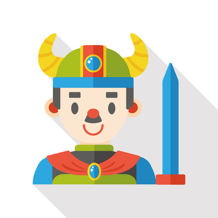 game knight flat icon