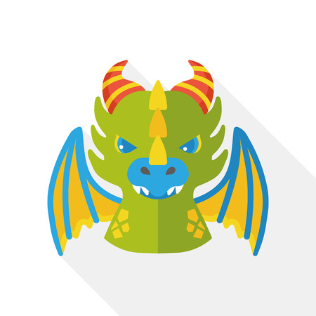 animal background: Game devil flat icon