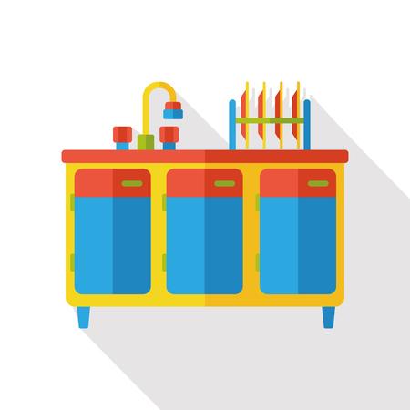 furniture: washbasin furniture icon Illustration