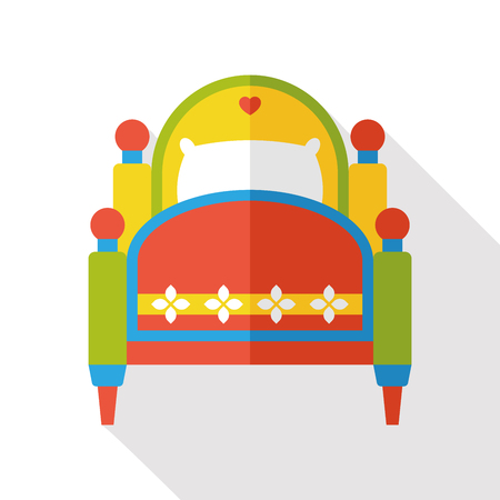 furniture: furniture bed flat icon