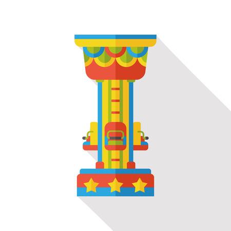 thrilling: amusement park drop tower flat icon