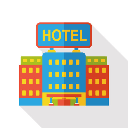 hotel building: building hotel flat icon