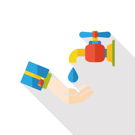 economize: water Faucet flat icon Illustration
