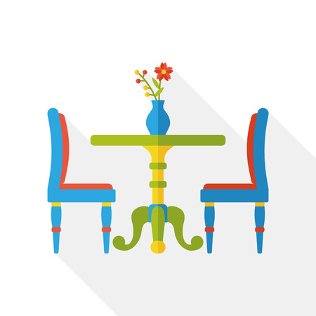 diner: diner table flat icon