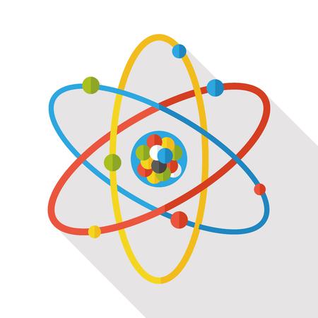 molecular biology: Molecular modeling flat icon Illustration