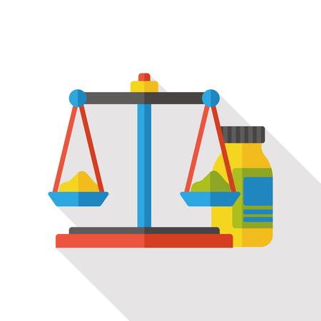 lawyer court: Science balance flat icon