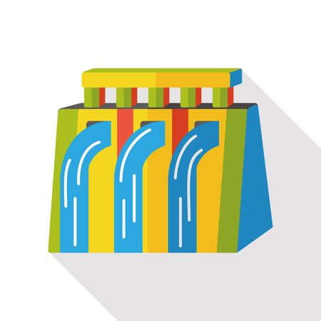 treatment plant: water reservoir flat icon Illustration