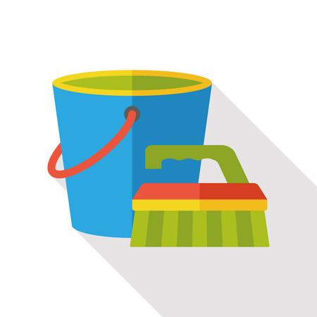 water bucket: water bucket flat icon
