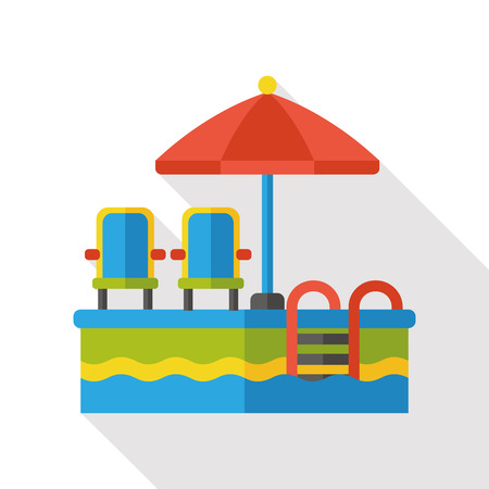 no swimming: swimming pool flat icon Illustration