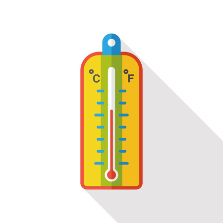 Thermometer temperature flat icon