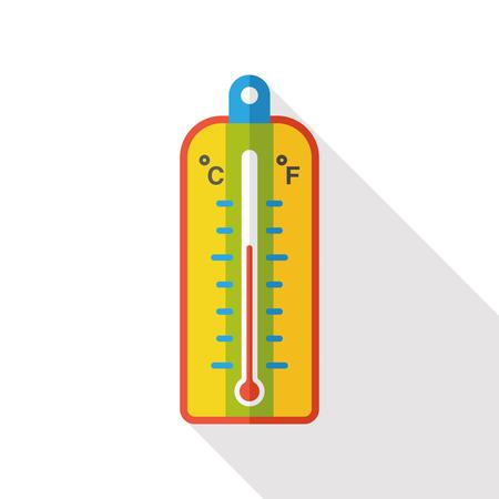 Thermometer temperatuur flat icon