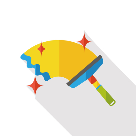 mop: cleaning mop flat icon Illustration