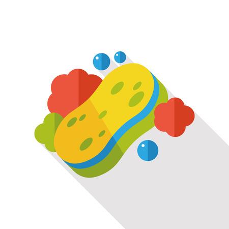 washing sponge flat icon Ilustração