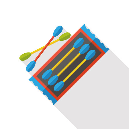 swabs: Cotton swabs flat icon