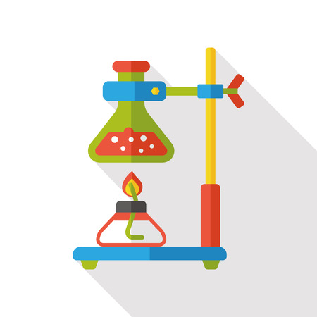 laboratory glass: Experiment Beaker flat icon