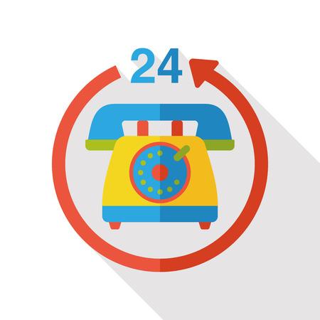 phone icon: hotel phone flat icon Illustration