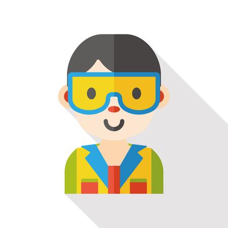 laboratory: scientist character flat icon