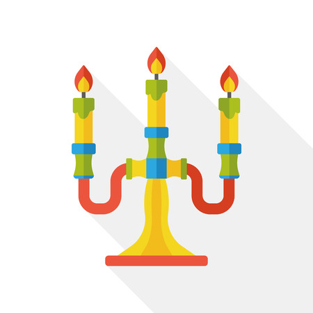 candlestick: Candlestick tool flat icon Illustration