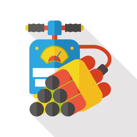 dinamita: bomba de dinamita icono plana Vectores