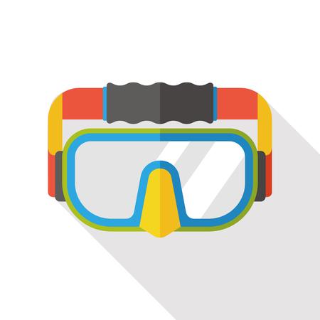 sport wear: science goggle flat icon