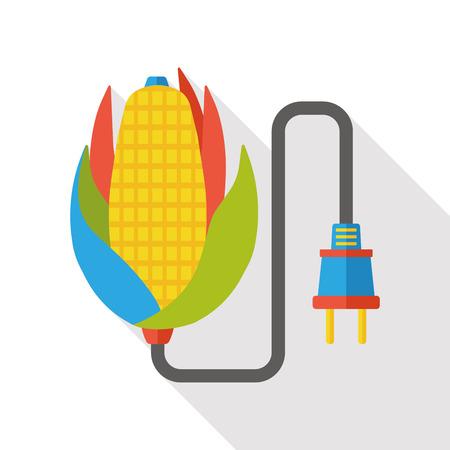 outlet: outlet socket flat icon Illustration